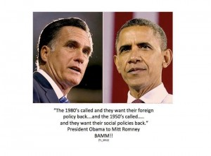Obama tells Romney, or snap!